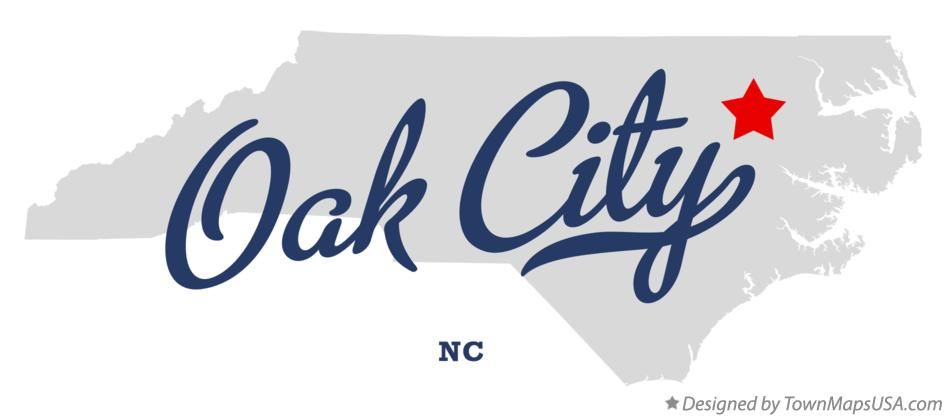 Map of Oak City North Carolina NC