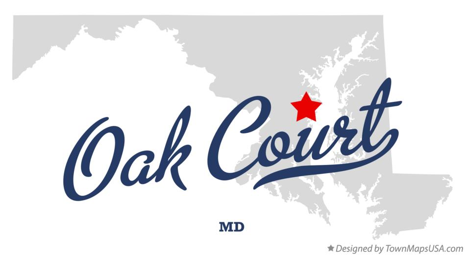 Map of Oak Court Maryland MD