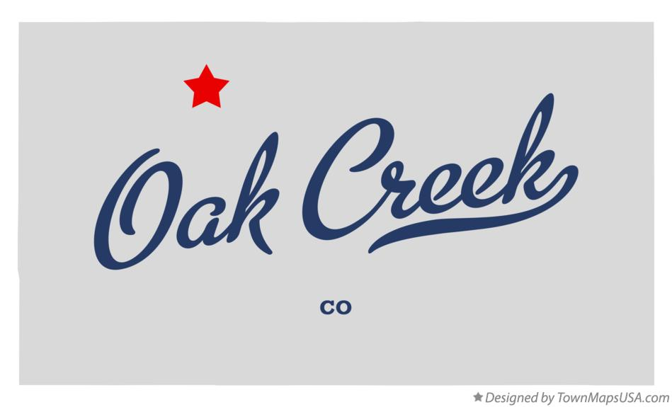 Map of Oak Creek Colorado CO