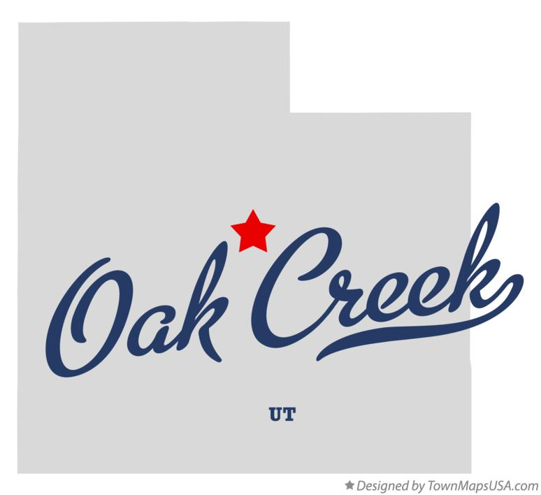 Map of Oak Creek Utah UT