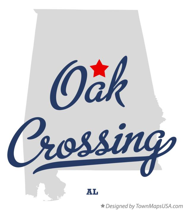 Map of Oak Crossing Alabama AL