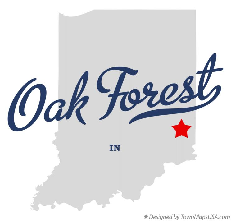 Map of Oak Forest Indiana IN