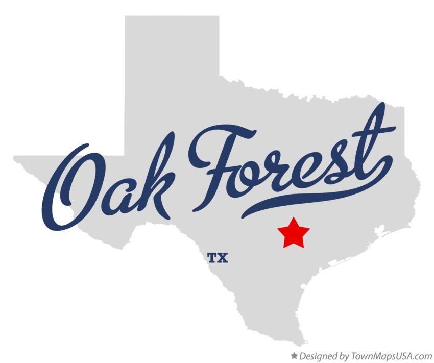 Map of Oak Forest Texas TX