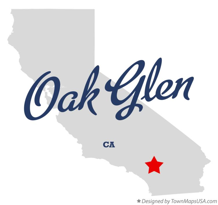 Map of Oak Glen California CA