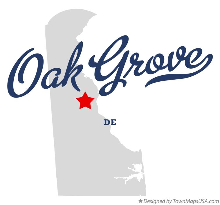 Map of Oak Grove Delaware DE