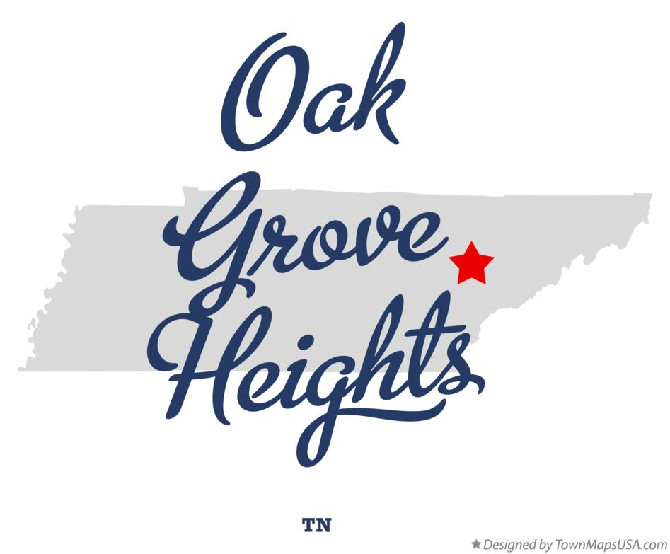 Map of Oak Grove Heights Tennessee TN