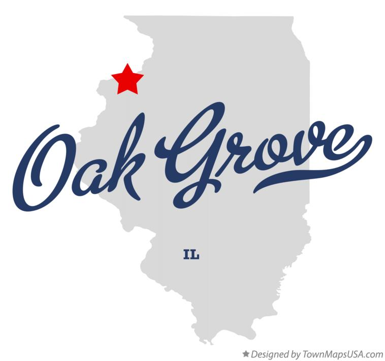 Map of Oak Grove Illinois IL