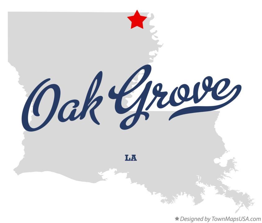 Map of Oak Grove Louisiana LA