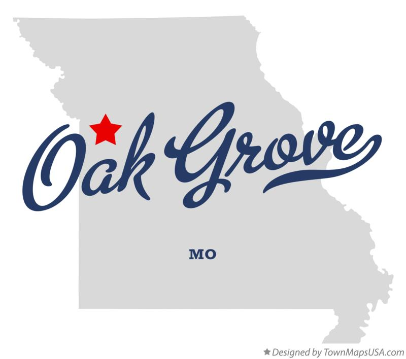 Map of Oak Grove Missouri MO