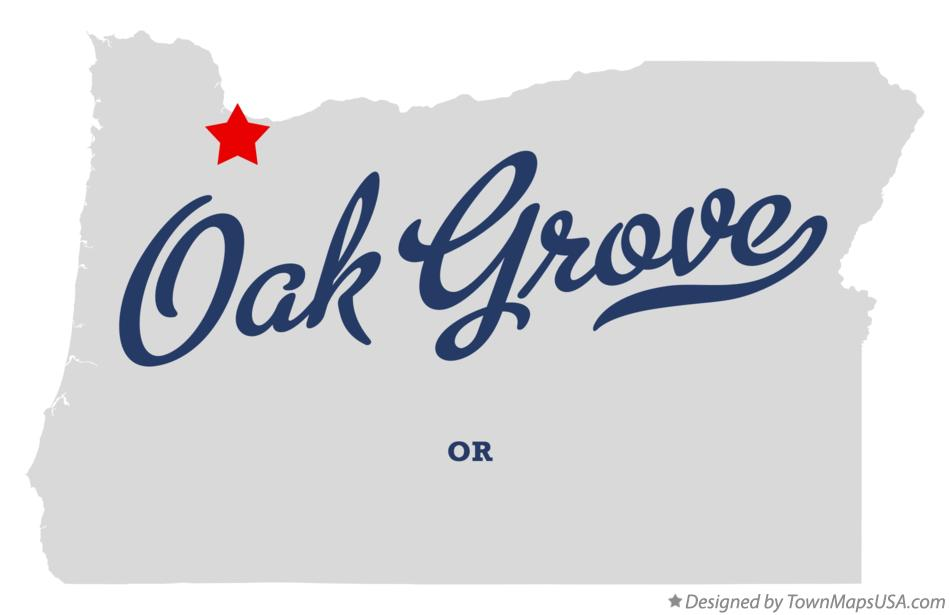 Map of Oak Grove Oregon OR