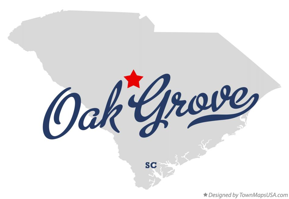 Map of Oak Grove South Carolina SC