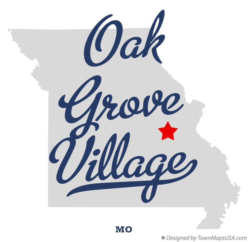 Map of Oak Grove Village Missouri MO