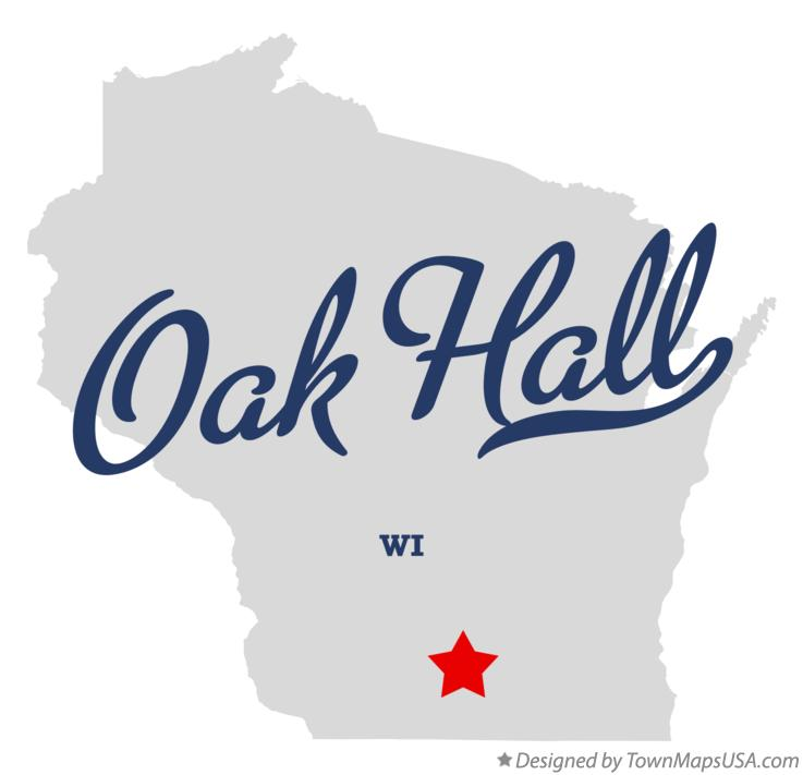 Map of Oak Hall Wisconsin WI