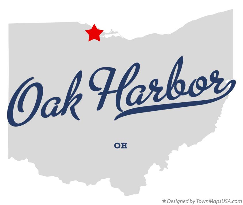 Map of Oak Harbor Ohio OH