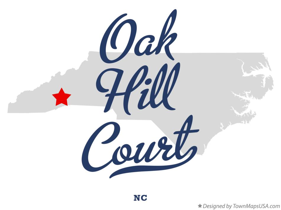 Map of Oak Hill Court North Carolina NC