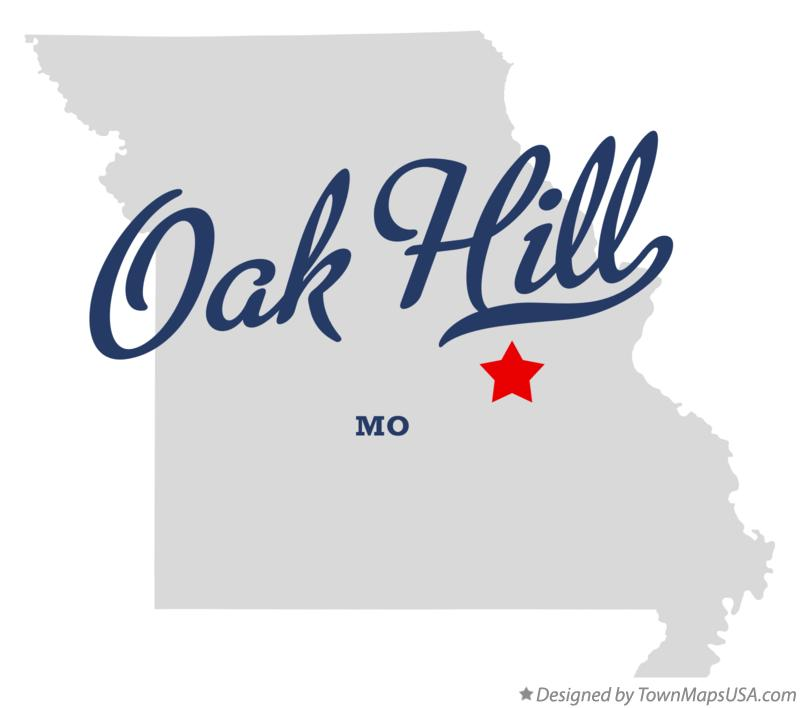 Map of Oak Hill Missouri MO