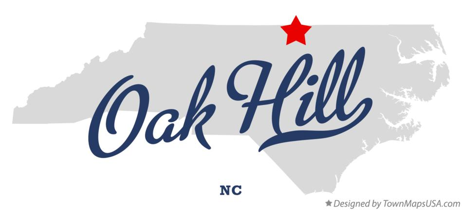 Map of Oak Hill North Carolina NC