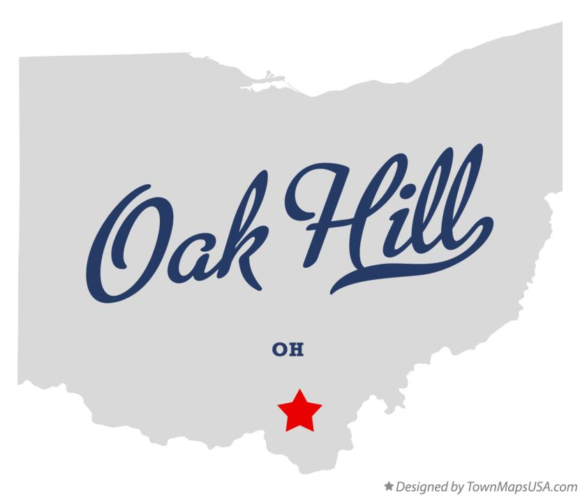 Map of Oak Hill Ohio OH