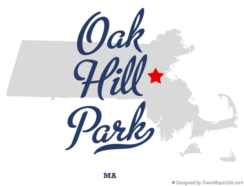 Map of Oak Hill Park Massachusetts MA