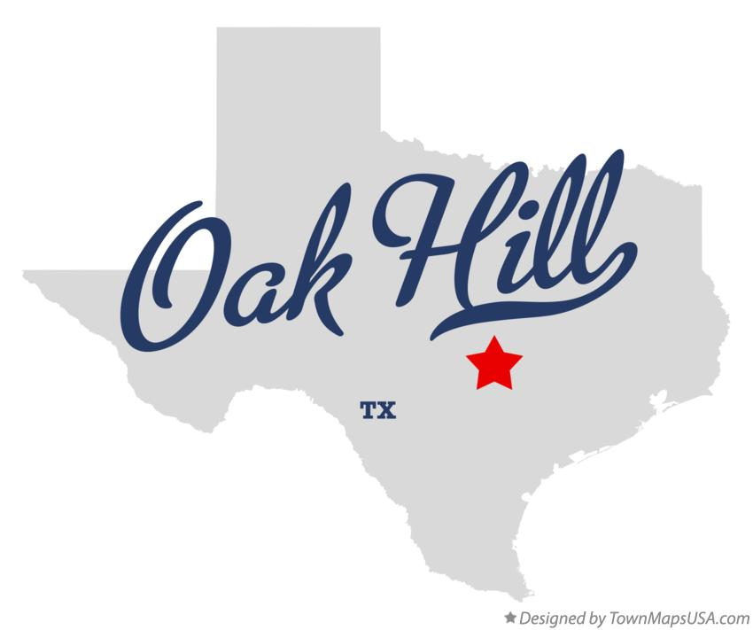 Map of Oak Hill Texas TX