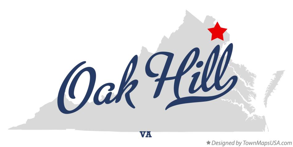 Map of Oak Hill Virginia VA