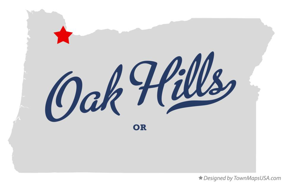 Map of Oak Hills Oregon OR