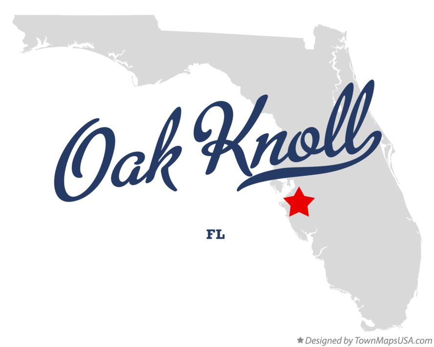 Map of Oak Knoll Florida FL