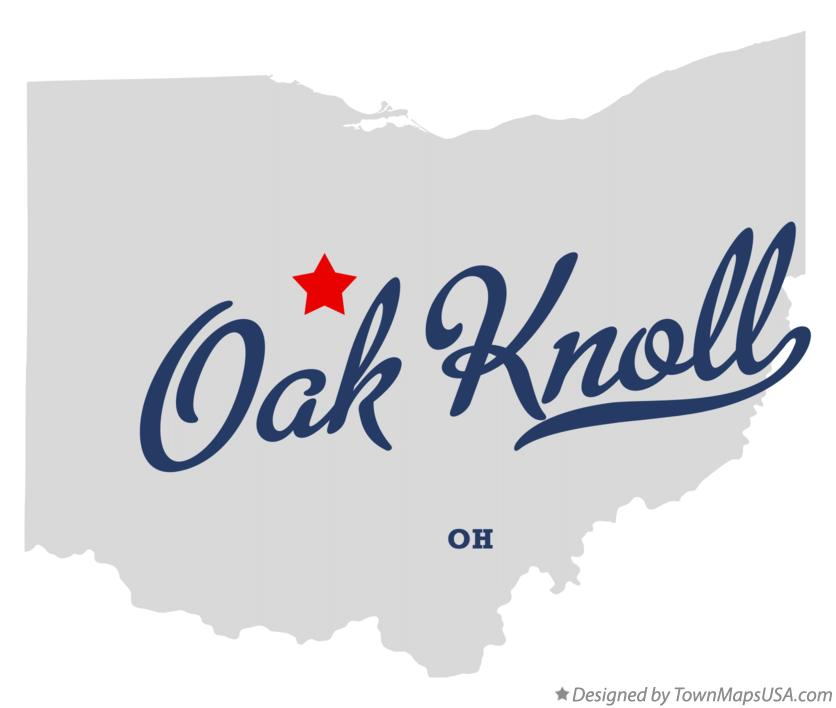 Map of Oak Knoll Ohio OH