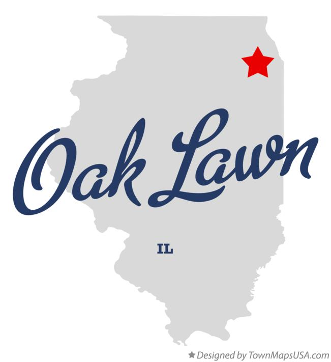 Map of Oak Lawn IL Illinois