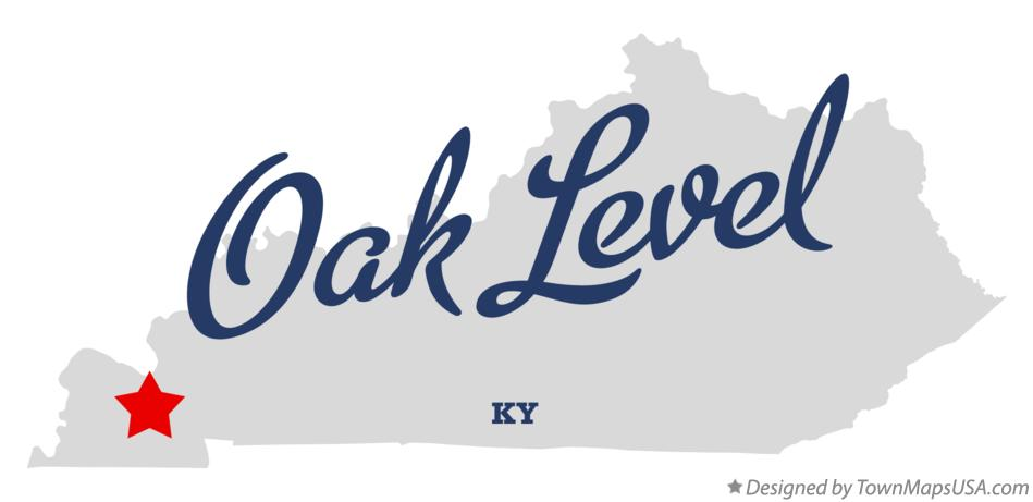 Map of Oak Level Kentucky KY