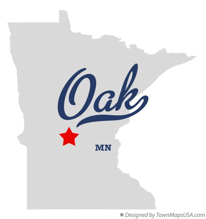 Map of Oak Minnesota MN