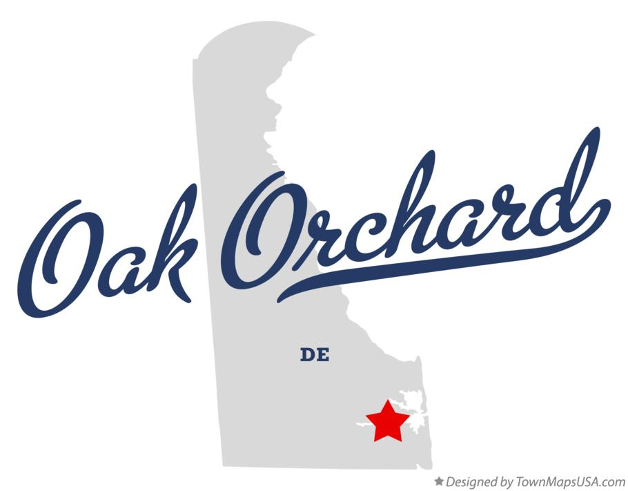 Map of Oak Orchard Delaware DE
