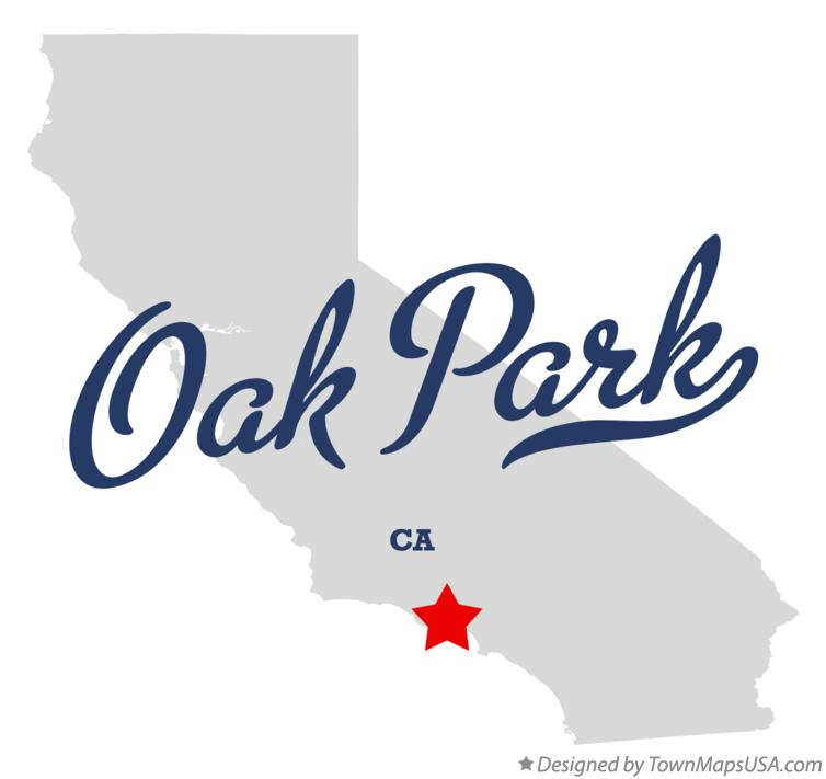 Oak Park California Map.Map Of Oak Park Ventura County Ca California
