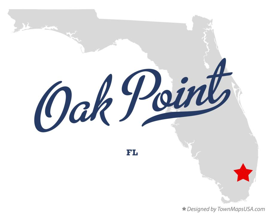 Map of Oak Point Florida FL