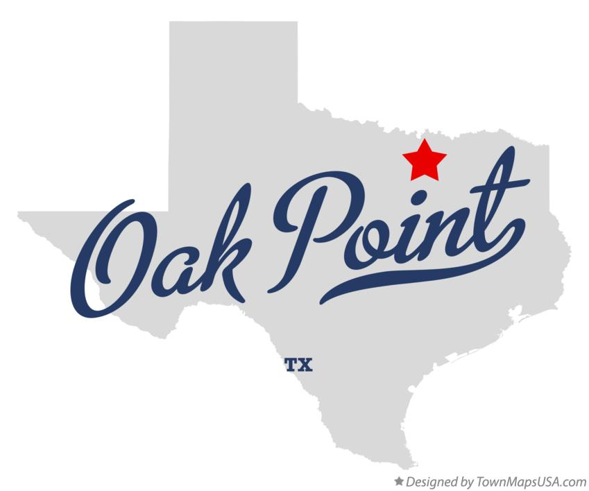 Map of Oak Point Texas TX