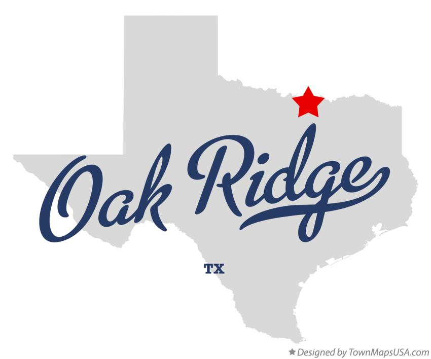 Map of Oak Ridge Texas TX