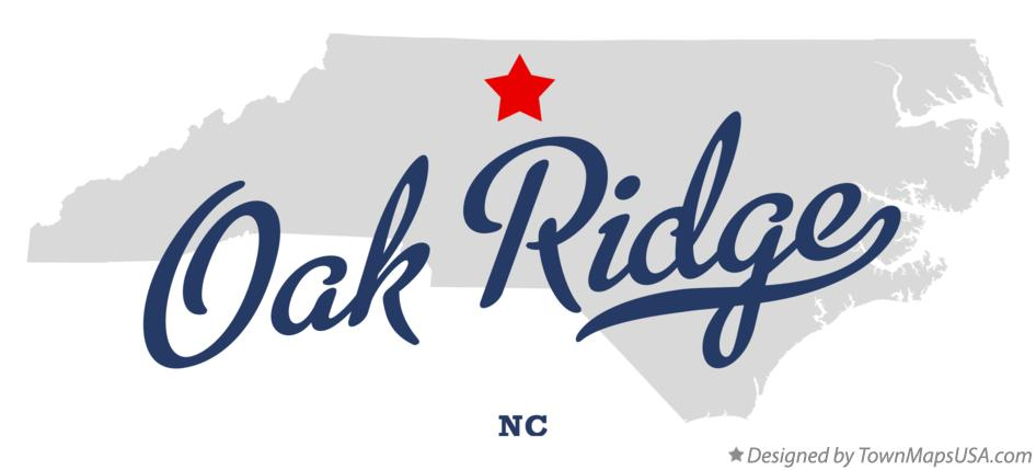Map of Oak Ridge North Carolina NC
