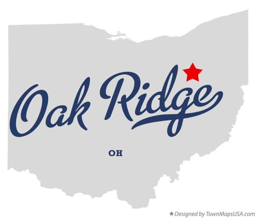 Map of Oak Ridge Ohio OH