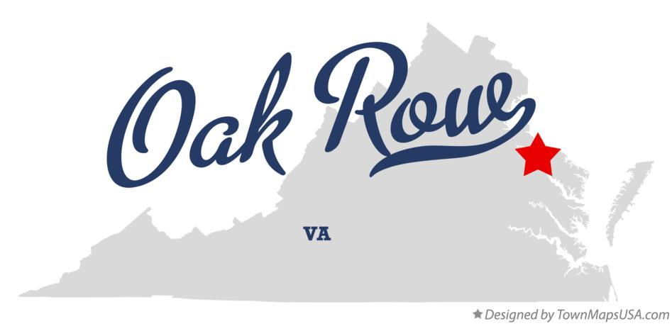 Map of Oak Row Virginia VA