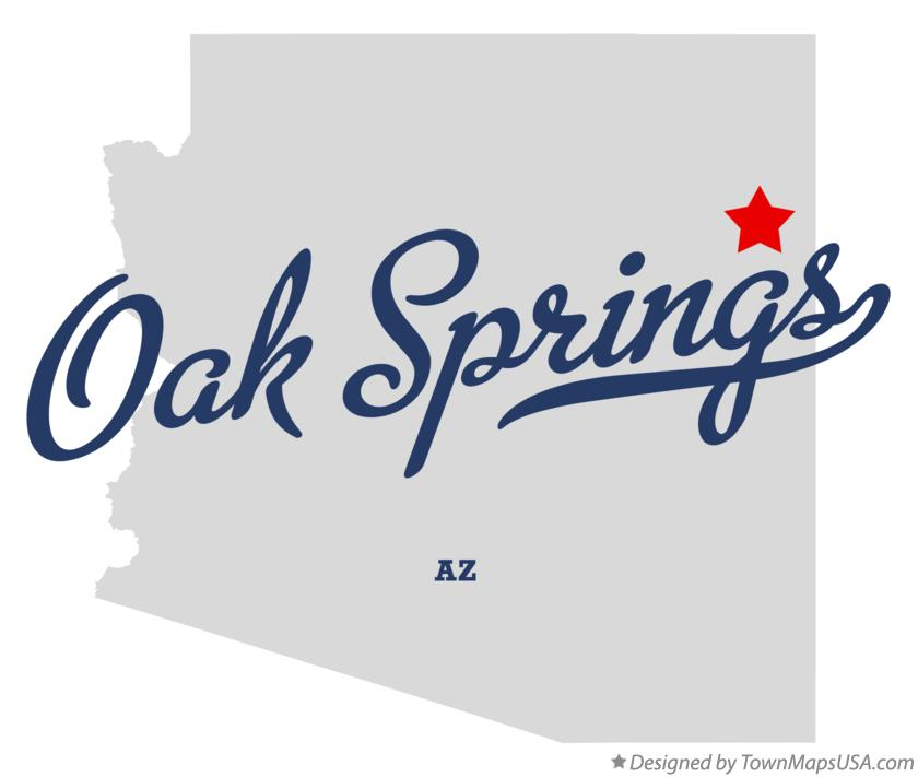 Map of Oak Springs Arizona AZ