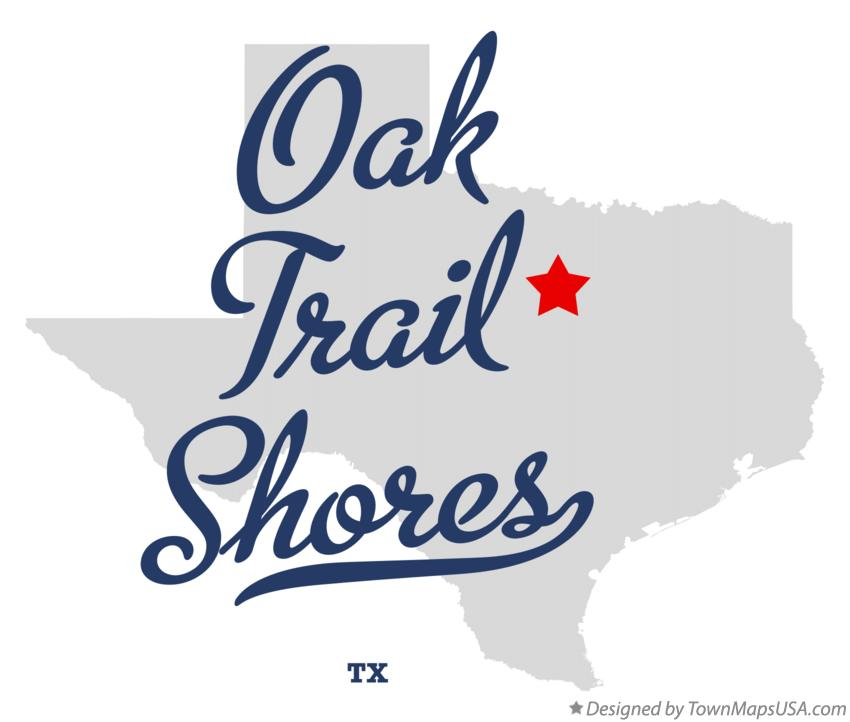 Map of Oak Trail Shores Texas TX
