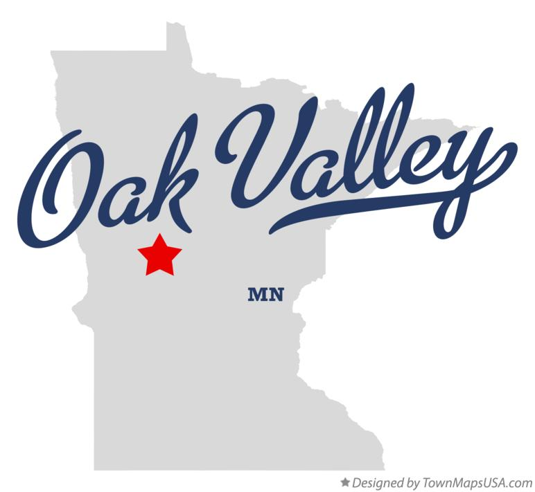 Map of Oak Valley Minnesota MN