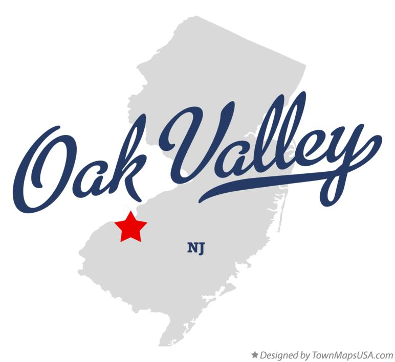 Map of Oak Valley New Jersey NJ