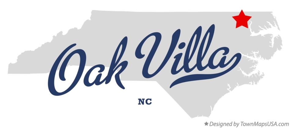 Map of Oak Villa North Carolina NC