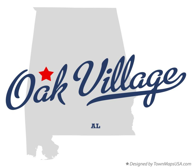Map of Oak Village Alabama AL