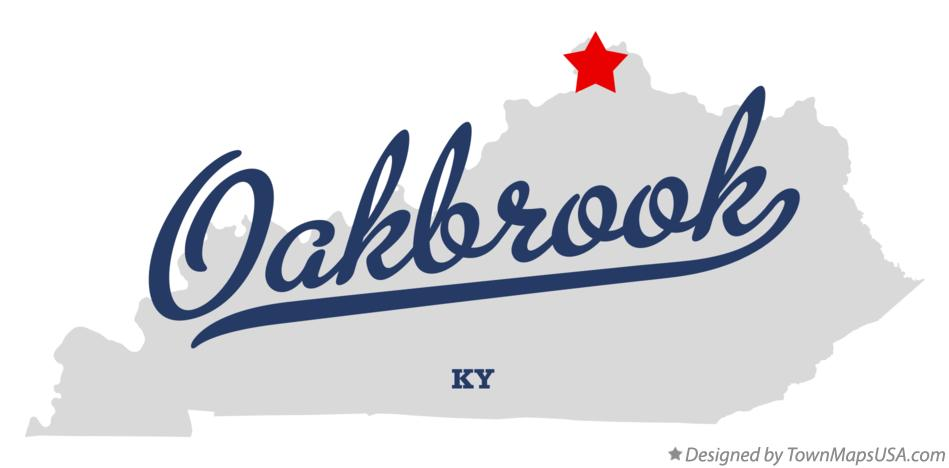 Map of Oakbrook Kentucky KY