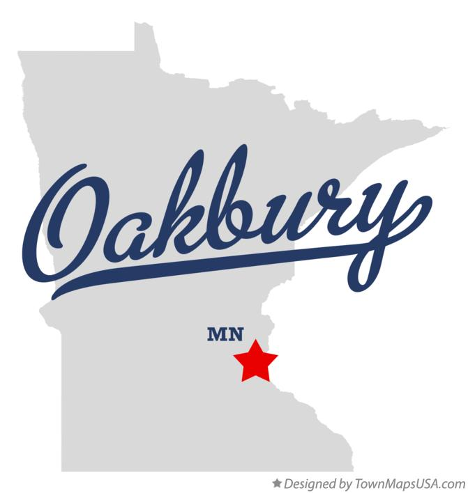 Map of Oakbury Minnesota MN