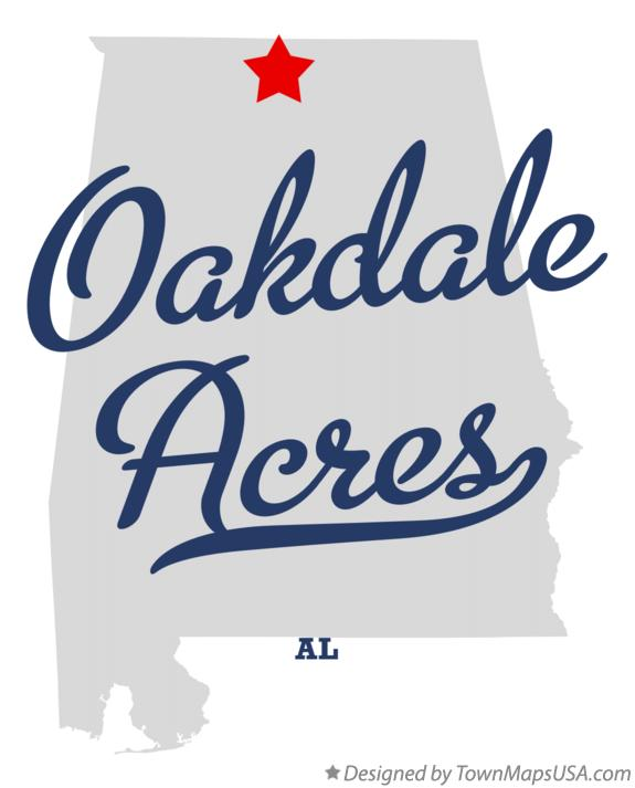 Map of Oakdale Acres Alabama AL