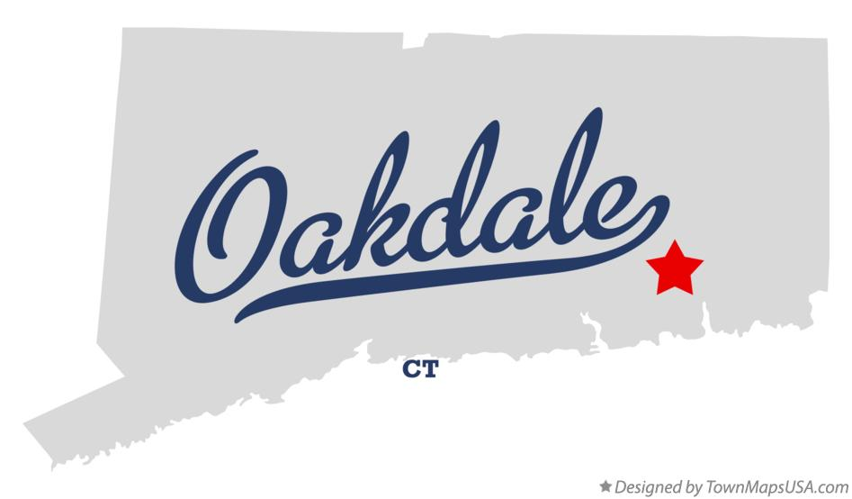 Map of Oakdale Connecticut CT