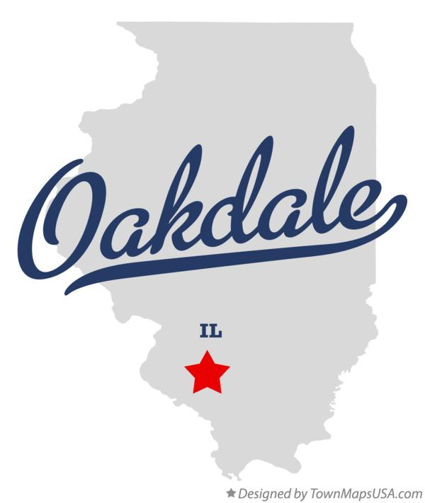 Map of Oakdale Illinois IL